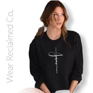 NEW 'Jesus' Black Sweatshirt - Long Sleeved